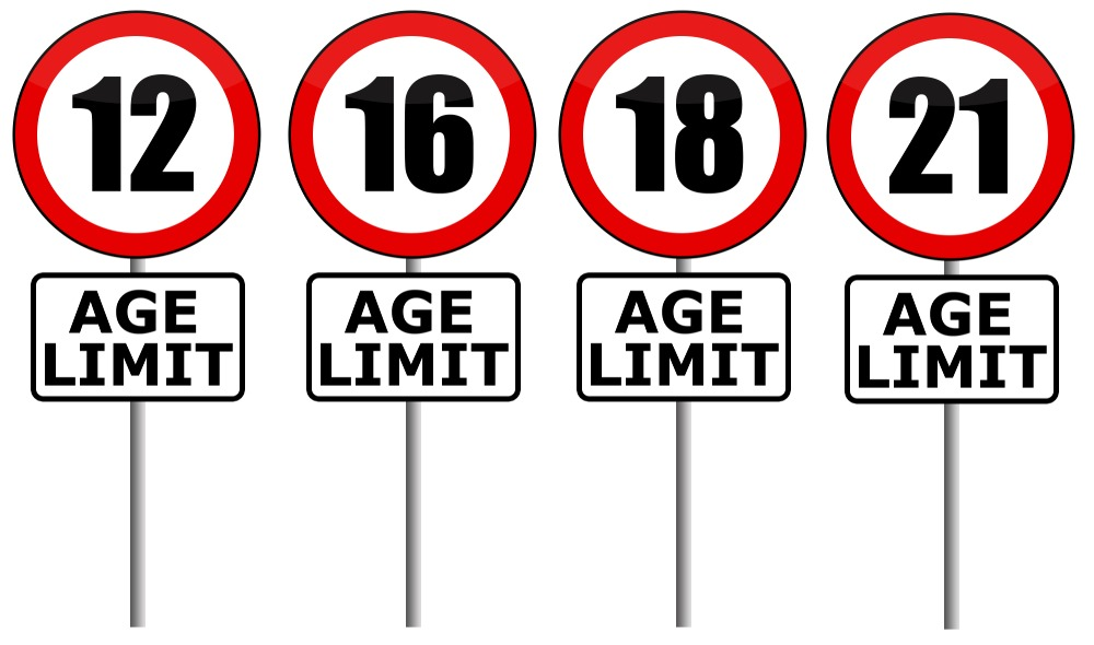An image showing the different stages of age limit, we have stated the age appropriate ratings to give you more information.