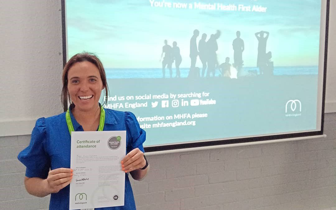 Founder of Cyber Hero is now a trained Mental Health First Aider